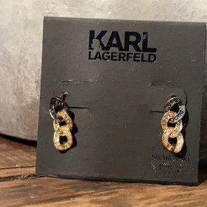 Karl Lagerfeld Swarovski earings